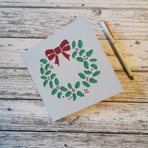 Wreath Christmas Card - Three Colors