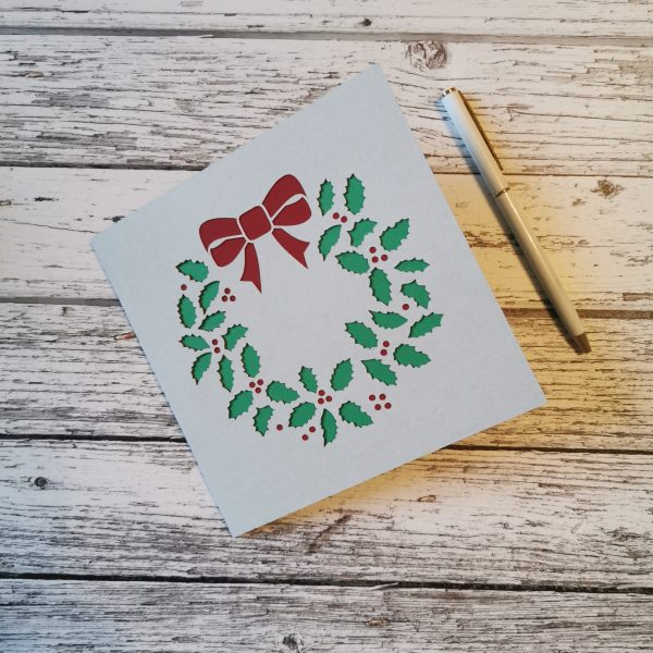 Wreath Christmas Card - Three Colors