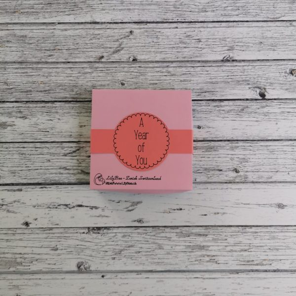 Baby Photo Milestone Cards pink