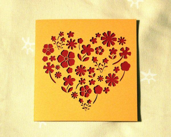 Flowery Heart Card