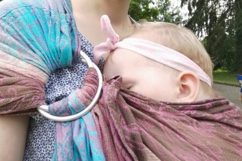 Nursing in a ring sling