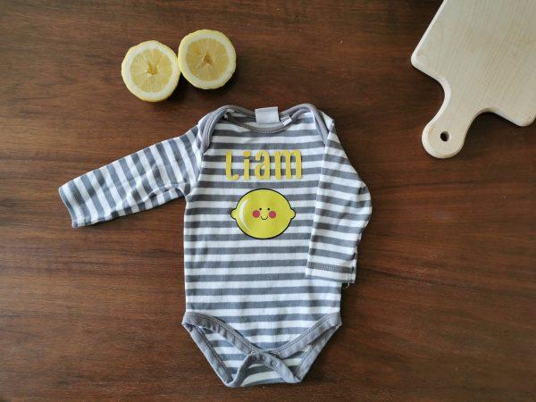 Personalizable Lemon Onesie