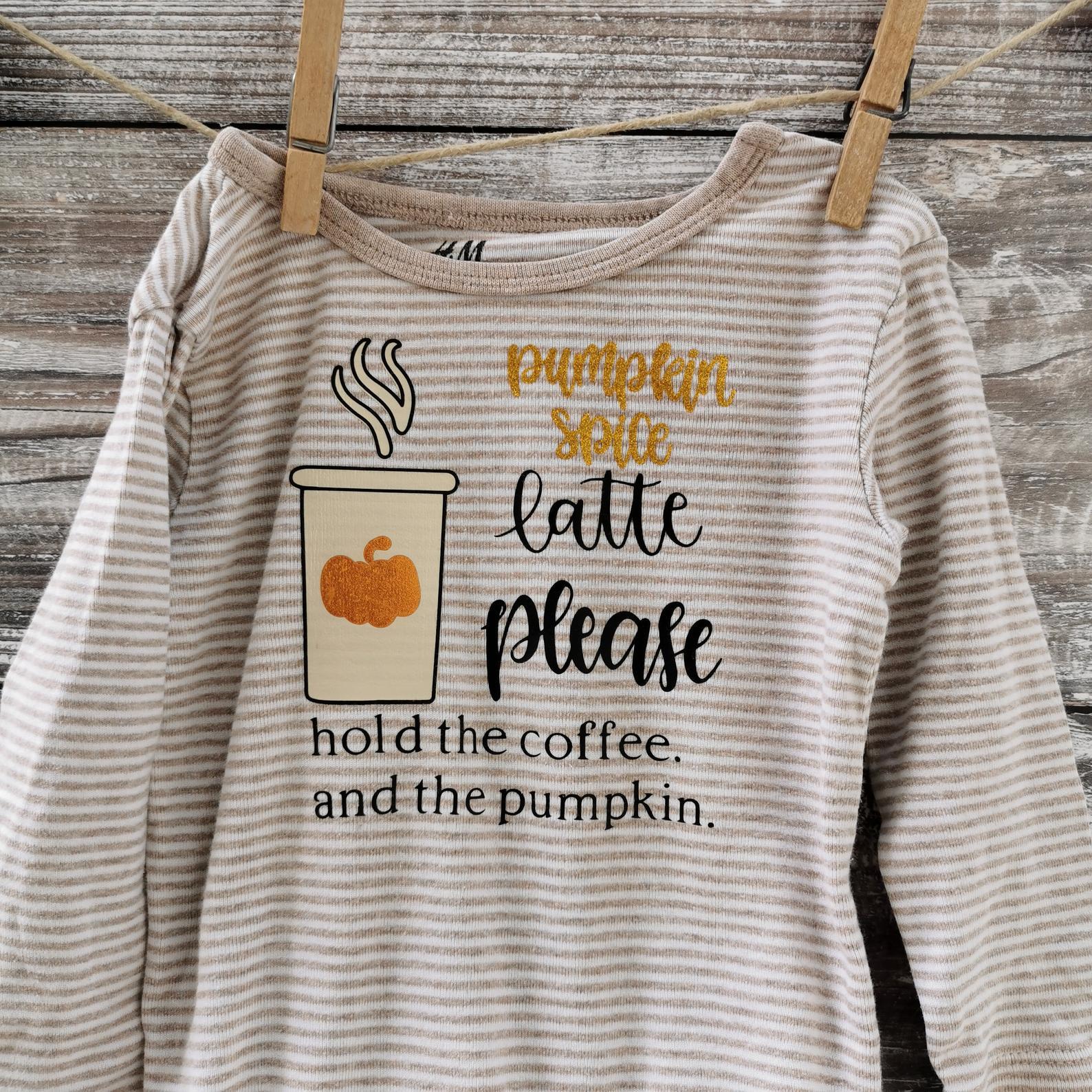 Pumpkin Spice Latte Baby Onesie