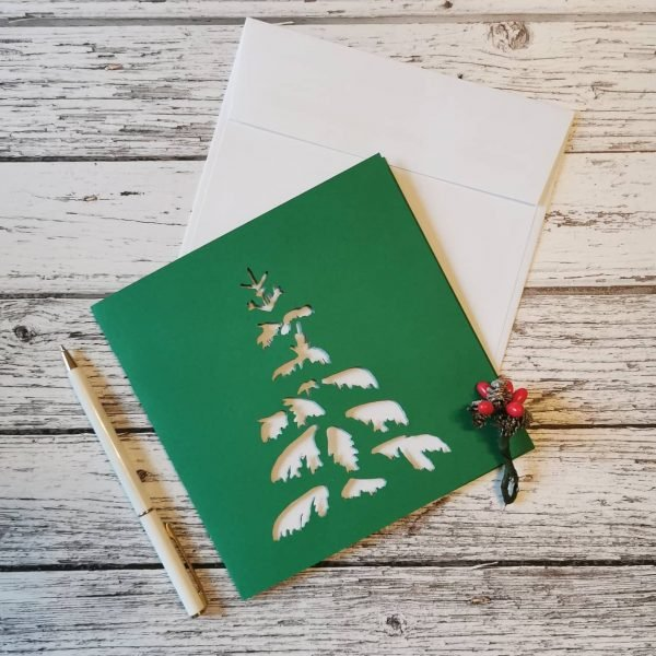 Snow Covered Christmas Tree Card